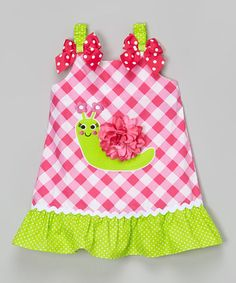 Another great find on #zulily! Pink Snail Appliqué Ruffle Dress - Infant, Toddler & Girls by Youngland #zulilyfinds