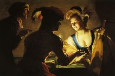 Fig. 1 Gerrit van Honthorst, The Procuress, 1625, oil on panel, 71 x 104 cm. Centraal Museum, Utrecht, inv. no. 10786 (artwork in the public domain)