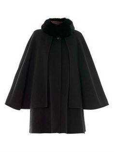 Fur collar wool-cashmere cape   Ar   MATCHESFASHION.COM. I'd eat that shit for breakfast