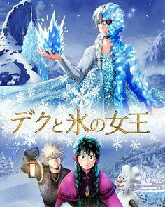 – Heroes. Shoto Todoroki Izuku Midoriya Katsuki Bakugou... I'm crying  Credit to the artist✏