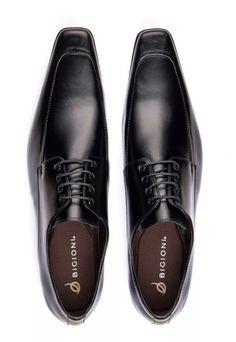 Sapato Oxford Masculino Bigioni Couro Preto 516