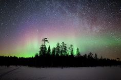 northern lights finland - Google Search