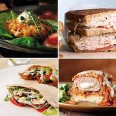 Quick & Easy 500-Calorie Weeknight Dinner Menus with Sandwiches. We provide all the recipes and planning. You just have to shop! #eathealthy