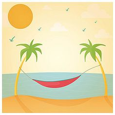 Summer beach ocean background poster