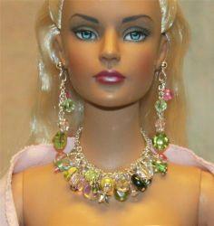 """""""Tea Rose Garden"""" Jewelry Set for Tonner Tyler Ellowyne DeeAnna Gene Sybarite"""