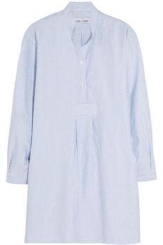 Striped cotton Oxford nightshirt #stripedshirt #offduty #formal #covetme #thesleepshirt