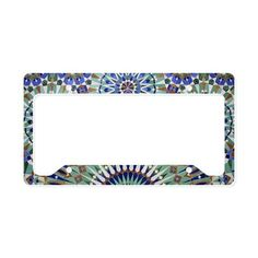 Mosaic Wall, Hassan II Mosque License Plate Holder on CafePress.com