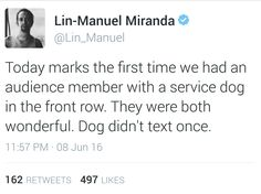 That's sad that anyone would even dare THINKING of texting during a play that is so special it's impossible to get tickets because they're sold out so far in advance. I would never>>>> if it's hamilton wouldn't u mean musical What Do You Mean, What Is Your Name, Lin Manual Miranda, Hamilton Lin Manuel Miranda, Hamilton Musical, And Peggy, Dear Evan Hansen, Alexander Hamilton, Fandoms