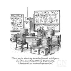 """Thank you for submitting the enclosed formula, which proves and solves th..."" - New Yorker Cartoon Poster Print by Tom Cheney at the Condé Nast Collection"