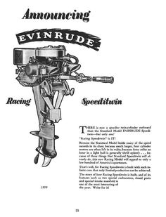 1957 JOHNSON OUTBOARD MOTOR LINE-UP ILLUSTRATION 3 HP to