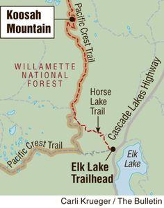 Hiking Koosah Mountain; Koosah Mountain