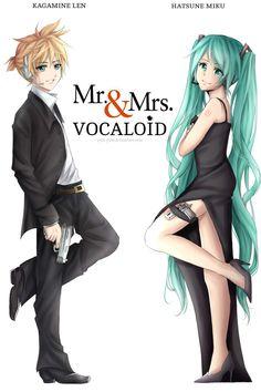 Mr & Mrs Vocaloid Len & Miku