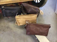 Men and Women's leather Dopp Kits. Ready to be filled with handmade soaps or favorite grooming items and given as gifts for the Holidays!