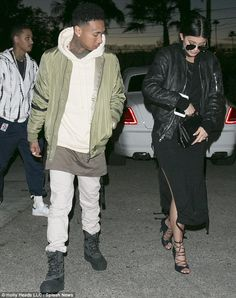 Kopykats: The couple looked as though they were trying to channel Kylie's sister Kim and brother-in-law Kanye