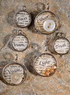 #Inspirational word charms cast in resin #quotes @jillmott
