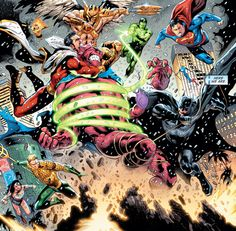 Justice League vs Despero Superman, Batman, Marvel And Dc Superheroes, Detective Comics, Dc Universe, Justice League, Dc Comics, The Originals, Sketching