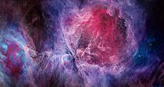 LA FOTO DESTACADA DE LA SEMANA: La nebulosa de Orión en visible y en infrarrojo