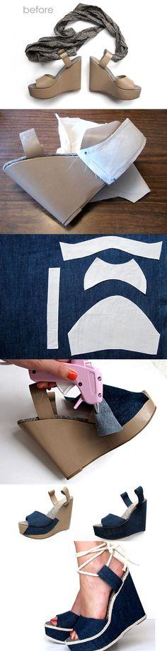 DIY Fashion: 15 DIY Shoes Design Ideas #diysandals