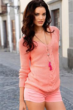 Peach pink Pullover - on the wishlist!