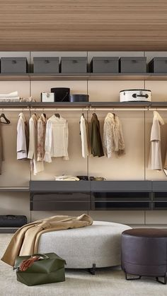 Poliform modern wardrobe collection claims prominence in the night area. Italian furniture design in modern and contemporary style. Walk In Closet Design, Wardrobe Design, Italian Furniture Design, Wardrobe Room, Hotel Room Design, Modern Wardrobe, Building A New Home, Model Homes, House Design