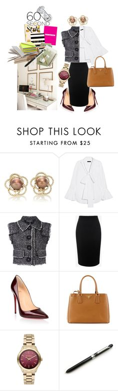"""60 Second Job Interiew"" by keepfashion92 ❤ liked on Polyvore featuring E L L E R Y, Dolce&Gabbana, Alexander McQueen, Christian Louboutin, Prada, Karl Lagerfeld, jobinterview and 60secondstyle"