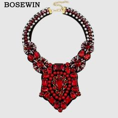 Crystal Bead Luxury Collar Choker Necklace Women Accessories Indian Style Handmade Bib Maxi Necklaces Statement Jewelry Like if you rememberVisit our store --->  http://www.rumjewelry.com/product/bosewin-crystal-bead-luxury-collar-choker-necklace-women-ac