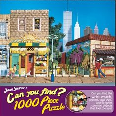 "1000 Pieces -- ""Juanita's Bodega"" -- Art by Joan Steiner; Puzzle by Ceaco; Copyright 2005; Completed size: 27"" x 20""; Purchased for $2.00 at Deseret Industries in American Fork on 23 Dec 2014"