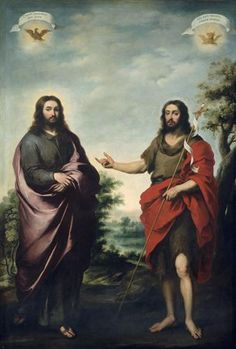 Saint John the Baptist Pointing to Christ - Bartolome Esteban Murillo.  c.1655.  Oil on canvas.  270.2 x 184.5 cm.  The Art Institute of Chicago, Chicago IL, USA.