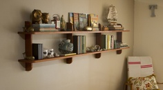 Inspired. Modern twist on traditional hungarian shelving unit #wallshelf