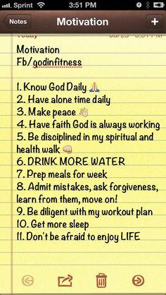 Motivational list