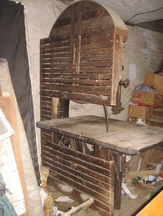Connell & Dengler bandsaw with original wood guards