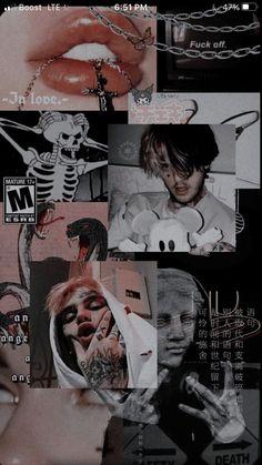 Goth Wallpaper, Cute Tumblr Wallpaper, Trippy Wallpaper, Cartoon Wallpaper, Cute Wallpapers, Hello Kitty Wallpaper, Black Aesthetic Wallpaper, Aesthetic Iphone Wallpaper, Aesthetic Wallpapers