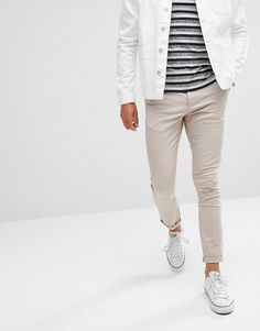 ASOS Super Skinny Chinos In Beige - Beige