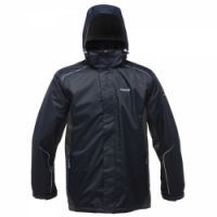 £34.99 -   Regatta Mens Sangson Jacket Navy  A mountain inspired, highly versatile outdoor jacket using Regatta's trusted Isotex waterproof and breathable fabric technology. Waterproof and breathable Isotex 5000 textured fabric. Taped seams. Mesh lined. Concealed hood with adjuster. Inner security pocket. Adjustable cuffs.Adjustable shockcord hem