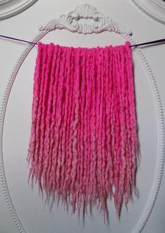 40DE Pastel Pink Neon Bubblegum Ombre UV Wool Locs by NVCL3ARBVTT3RFLY