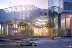 A digital artist's conception of the New Wilshire Grand