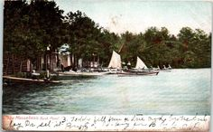 1906 Lake Massabesic Back Pond, Auburn, NH postcard