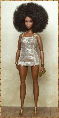 Que bella representante del afro😍 Afro, Fashion Royalty Dolls, Fashion Dolls, Barbie Gorda, Barbie Clothes, Barbies Dolls, Diva Dolls, African American Dolls, Beautiful Barbie Dolls