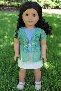 Lace Knit Cardigan for American Girl or 18 Doll by ClarissesCloset, $10.00