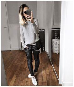 WEBSTA @ audreylombard - La flemme du vendredi • Sunglasses #kaleos (from @la_shaperie)• Knit #sezane (from @sezane)• Leather Pant #aninebing (on @cyrielleforkure)• Sneakers #goldengoose (from @lagrandeboutiquelgb)...