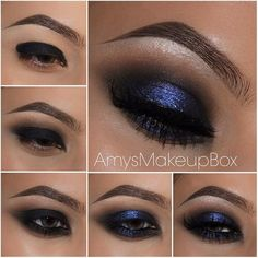 Smoke it out! Some weekend inspiration from @amysmakeupbox I #pampadour #eotd #inspiration #smokeyeye #bluesmokey #makeup #beauty
