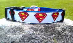 Superman Dog Collar by WillyWoofs on Etsy, $16.00