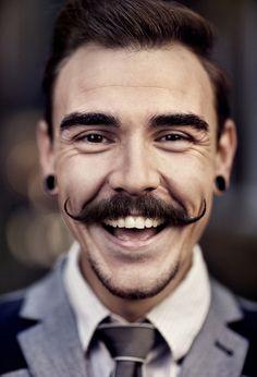 .A smile as genuine as the mustache. Men's Jewellery #mensfashion #mensjewellery…