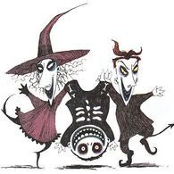 Images of Lock, Shock and Barrel from The Nightmare Before Christmas.