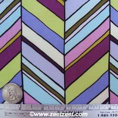Sale - NEW CHEVRON Stripe Pastille BOTANIKA Collection Quilt Fabric - Paula Prass for Michael Miller Fabrics - 1 Yard. $8.00, via Etsy.