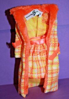 Vintage-Barbie-Reproduction-1881-Made-For-Each-Other-SKIRT-COAT-Orange-BELT