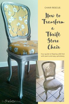 Chair Rescue: Your guide to flipping a $5 find with paint and easy upholstery. Don't be afraid to take home that hideous thrift store find! With a little elbow grease, you can turn it into something new and wonderful. Furniture Makeover, Diy Furniture, Glossy Paint, Wood Tile Floors, Thrifty Decor, Decorative Trim, Foam Crafts, Furniture Restoration, Painting Cabinets
