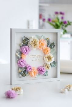 DIY gift idea: money gift for wedding and birthday - DIY Geschenke 2019 Birthday Money Gifts, Birthday Diy, Diy Wedding Gifts, Diy Gifts, Money Gift Wedding, Gift Money, Mother's Day Diy, Floral Wedding, Diy And Crafts