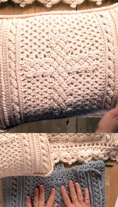 Crochet an afghan and pillow with a Celtic cross design to create a home decor set worthy of becoming a family heirloom. (click through to video tutorial on Craft Daily)