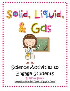 States of Matter Unit: Solid, Liquid, Gas science-y-things Kindergarten Science, Elementary Science, Science Classroom, Teaching Science, Science Education, Science Activities, Teaching Resources, Teaching Ideas, Matter Activities